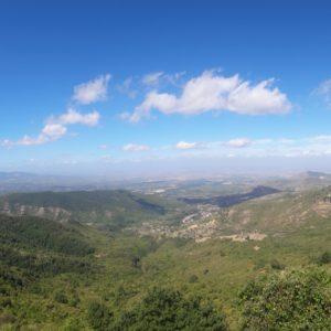 vista su Monti Tiburtini e Castelli Romani da Guadagnolo