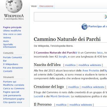 Da oggi siamo su Wikipedia, l'Enciclopedia libera universale!