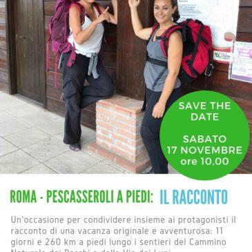 Il Racconto dell'avventura di Sara e Claudia: evento del 17 novembre a Livata