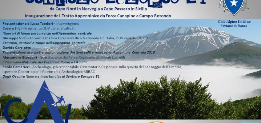 Venerdì 12 Aprile, nella sede CAI di Roma, si presenta il Sentiero Europa E1. </br> Il CNP sarà ospite