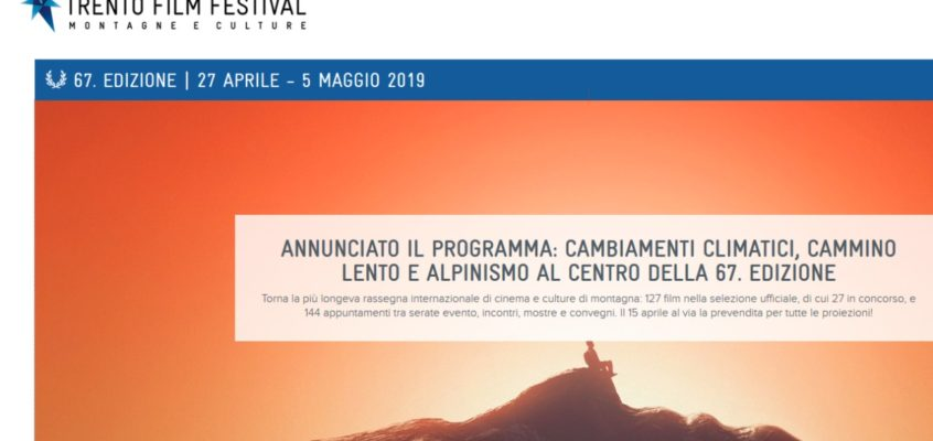 STREPITOSO! </br>Il CNP avrà un ampio spazio per raccontarsi alla 67<sup>a</sup> edizione del Trento Film Festival.